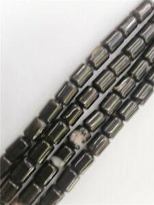 "2Strand 14x10mm Natural Black Agate Cylinder Loose Beads DIY 15.5"" EE1383"