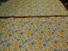 """2 Laura Ashley Yellow and Blue Floral Design Window Valances 18""""X80"""" Each"""