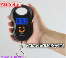 50Kg/20g LCD Digital Electronic Portable Hanging Luggage Weight Hook Scale AU