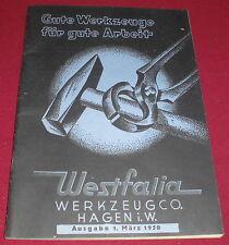 dachbodenfund versandhaus katalog werkzeugco westfalia werkzeug hagen i.W 1950