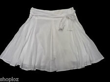 Ladies M&S Sizes 8 10 12  14 16  White Pure Cotton Fit and Flare Skirt New 22L