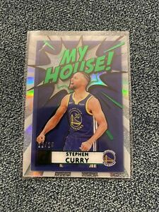 2021 Donruss Clearly Stephen Curry MY HOUSE Green Refractor /25 SSP Future HOF