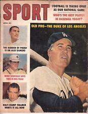 Sport Magazine - April 1960 Duke Snider Dodgers Cover - Ex