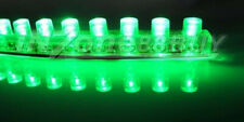 4x 24cm 24 LED Car Flexible Strip Light Lamp Green Bulb Waterproof 12v A071C