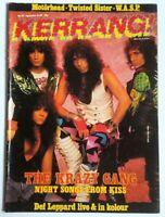 Kerrang 155 September 1987 Def Leppard Kiss Wasp Motorhead Twisted Sister