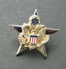 US ARMY GENERAL STAFF SERVICE IDENTIFICATION LAPEL HAT PIN BADGE 1 INCH