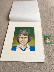 1978 Original Artwork Trevor Francis Birmingham City as used by Cornish Match Co