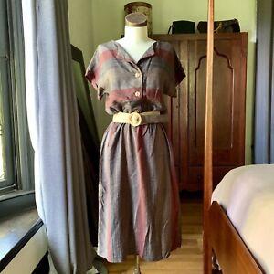 VINTAGE Alexis Fashions Day Dress Boho Belt CUTE!! S/M