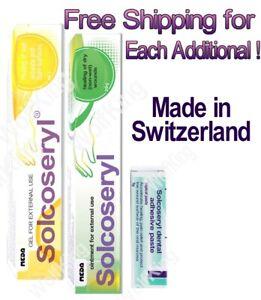 Solcoseryl Ointment Gel Dry Wet Wounds Regeneration Dental Paste Switzerland 20g