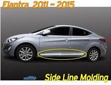 Side Line Molding Chrome Silver Skirt 4P D-034 Ems for Hyundai Elantra 2011~2016