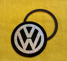 Magnetic Tax Disc Holder fits vw white glitter logo