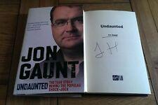 Undaunted The Story Behind the Popular Shock-jock SIGNED Jon Gaunt Autobiography