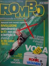 ROMBO 7 1985 Speciale Freddie Spencer un titolo non mi basta