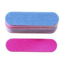 100Pcs Nail Files Double Color Wooden Mini Buffer Sanding 180/240 Disposabl A5U2