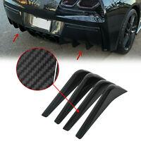 For 14-19 Corvette C7 Rear Bumper Lower Air Diffuser Fins Carbon Flash Painted