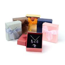72PCS Rectangle Cardboard Jewellry Set Boxes Package Case Mixed Color 7x8cm