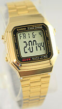 Casio A-178WGA-1A Men's Gold Tone Stainless Steel Digital Chronograph Watch