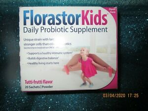 Florastor Kids Daily Probiotic Tutti-Frutti 20 Powder Sachets-Boost Immune Systm