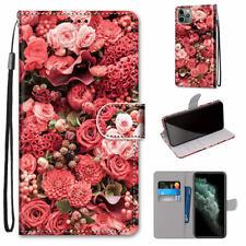 Rose Garden Luxury Fashion Women Girl Flip Wallet Case Cover For Various Phones