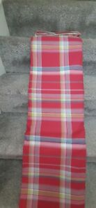 Red tartan check eyelet curtains 66x90inch
