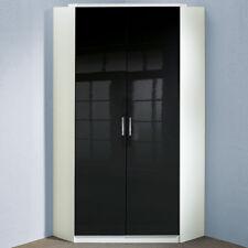 Eckschrank Clack Schlafzimmer Drehtürenschrank hochglanz schwarz Alpinweiß