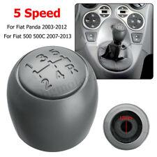 5 Pommeau Levier de Vitesse gris pour Fiat 500 500c 2007-2013 Panda 2003-2012