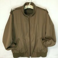 London Fog Men's 44R Waist Jacket w/ Zip Out Fleece Liner Brown Vintage 1970s