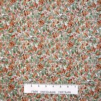 Calico Fabric - Nature's Elements Fall Leaves Beige - Hoffman YARD