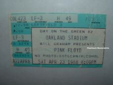PINK FLOYD Concert Ticket Stub 1988 OAKLAND STADIUM David Gilmour VERY RARE