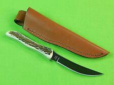 RARE US BUCK Custom Model 107 Stag Hunting Knife & Sheath