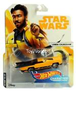 2018 Hot Wheels Star Wars Character Cars Han Solo Lando Calrissian