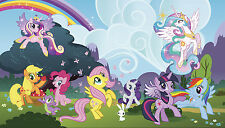 MY LITTLE PONY PONYVILLE WALL MURAL New Prepasted Wallpaper 10.5' x 6' Decor