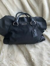 Autentic Prada Handbag Ruffles Black Nylon.