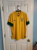 Nike Mens Brazil CBF 2012/13 Dri-Fit World Cup Yellow Soccer Jersey XL neymar