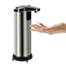 250ml Stainless Steel Automatic Soap Dispenser Touchless Smart Infrared Sensor