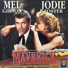 LASERDISC - MAVERICK- WS VF PAL - Mel Gibson, Jodie Foster, James Garner