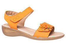 Velcro Flat (0 to 1/2 in.) Leather Shoes for Women