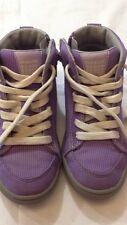 Geox Respira -scarpe alte da bambina - viola con stringhe bianche - N° 29  USATE