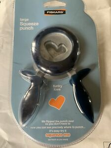 Fiskars large Squeeze Punch Heart. New! FREE P+P