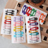 Cute 10Pcs/Set Candy Color Kid Girl Hairpin Bb Snap Hair Clips Hair Accessor`z
