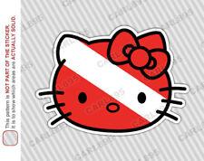 Hello Kitty Scuba Diver Car Truck SUV Vinyl Bumper Sticker