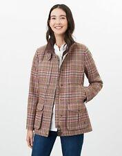 Joules Womens Fieldcoat Tweed Jacket - Pink Tweed