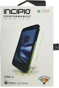 New OEM Incipio Performance Series Level 4 Navy/Yellow Case For Moto Z Droid