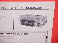 1964 OLDSMOBILE F-85 F85 CUTLASS 442 4-4-2 CONVERTIBLE AM RADIO SERVICE MANUAL