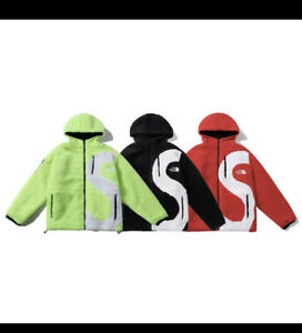 2020Supreme The North Face S Logo Fleece Jacket Red/Green/Black TNF Size M/L/XL
