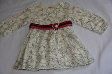 MISSONI BABY DRESS 18 MONTHS IVORY/BLACK OUTLINE FLOWERS VGC