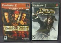 Pirates of the Caribbean Worlds End & Legend of PS2 Playstation 2 Game Lot Works