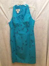 EVAN PICONE Womens Sz 12 Turquoise Sleeveless Knee Length Summer Dress