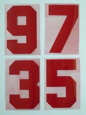 Flock Nummer number número home Trikot jersey shirt England 1980 1982