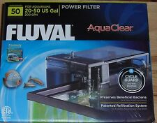 A estrenar genuino Fluval Aquaclear 50 Filtro De Potencia A610 200GPH Envío Gratuito